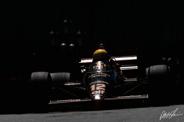 The Lotus years, 1985, Monaco.