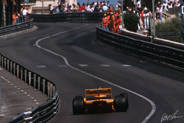 The Lotus years, 1987, Monaco.
