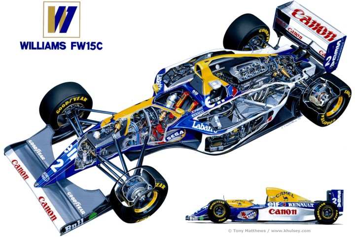 Inside the FW15C.