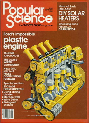 Popular Science Cover showcasing the 2.3 Liter Pinto Polimotor design.