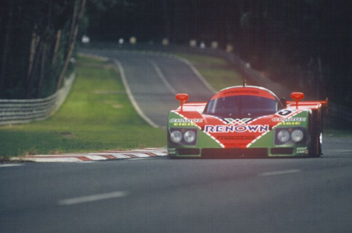 The 1991 24 Hours of Le Mans winning Mazda 787B.