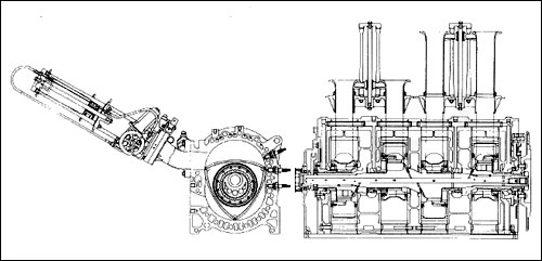 Mazda R26B Engine Diagram.