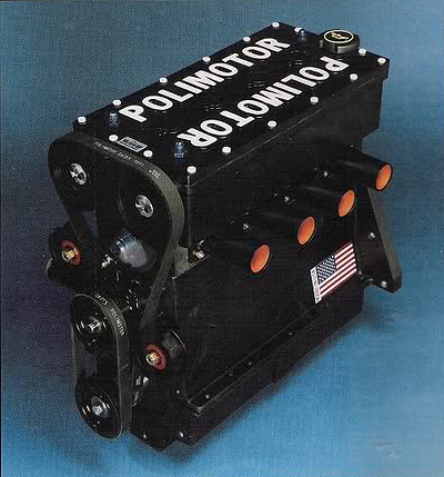 The BDA Polimotor engine as seen in the car.