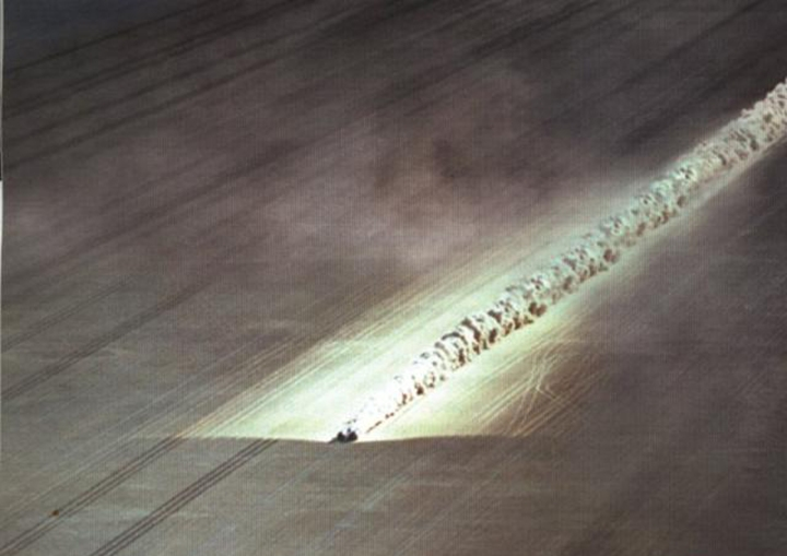 Thrust SSC at Speed.