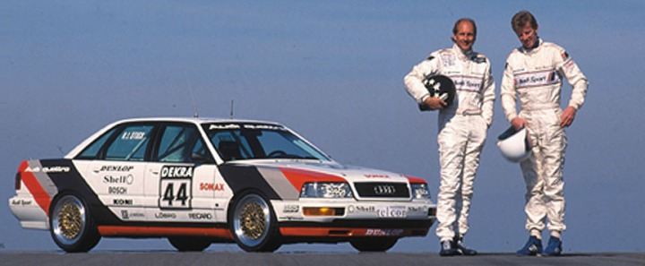 The 1990 DTM Audi V8 Quattro with H-J Stuck and W. Röhrl.