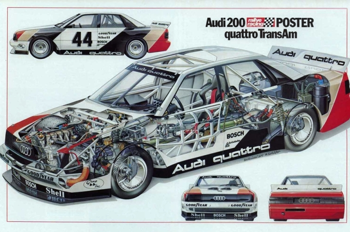 The beginning of the story with the 1988 Audi 200 Quattro Trans-Am.