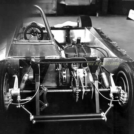 A rear view of the Kawasaki Car.