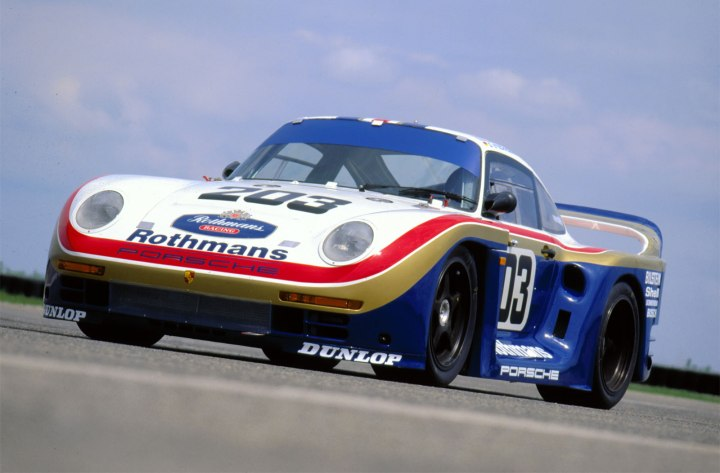 The Porsche 959 circuit version known as the 959.