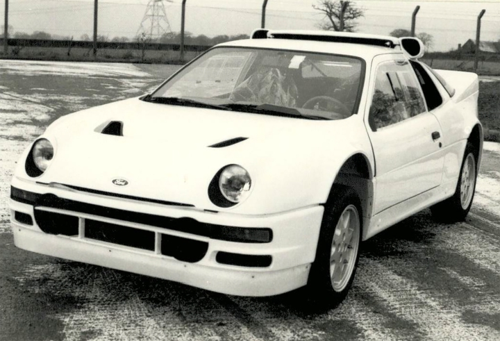 The Ford RS200 in homologation trim.