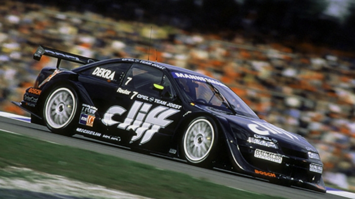 Manuel Reuter and the 1996 ITC winning Opel Calibra.