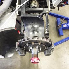 Rear brake assembly.