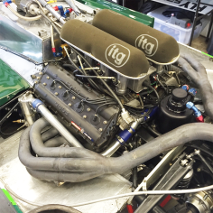 The Ford Cosworth DFV in situ.