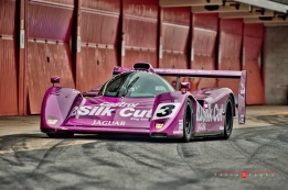 "The ""Purple Cat"" or Jaguar XJR14, the modern version of ground effect and diffuser."