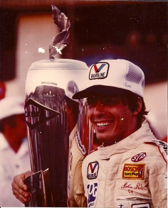 John Paul Jr after winning the Michigan 500.