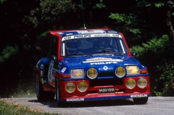 "The 1985 Tour de Corse winning car or a R5 ""Maxi"" Turbo version."
