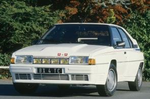 """The Citroën BX 4TC """"Série 200"""" road version."""