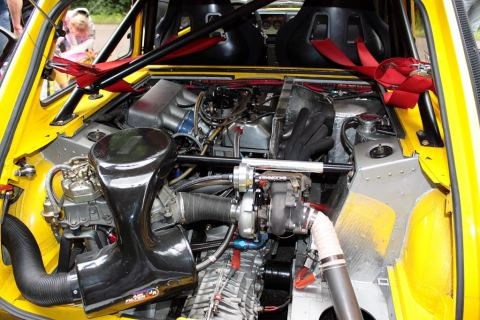 A Tour de Corse engine in situ.