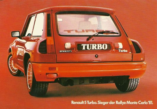 1981 Renault 5 Turbo advertising.