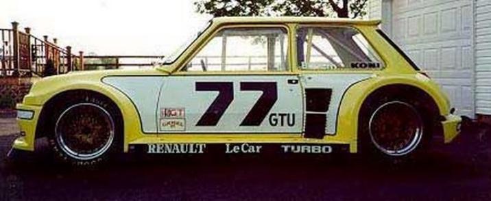 """The IMSA GTU """"LeCar"""" R5 Turbo."""