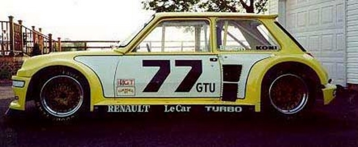 "The IMSA GTU ""LeCar"" R5 Turbo."