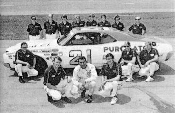 1974 Wood Brothers Racing Crew.
