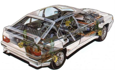 The Citroën BX 4TC exposed.