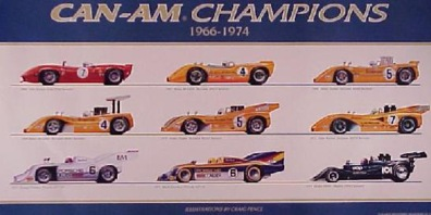 The 1966-1974 Can-Am Champions.
