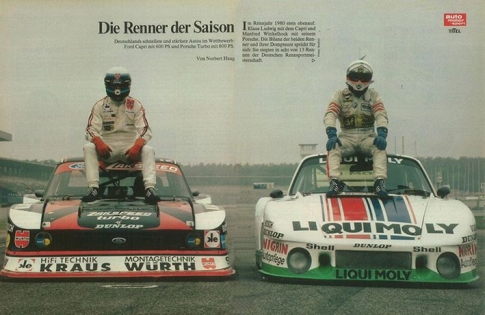 1980, Klaus Ludwig ready to battle with Manfred Winkelhock.