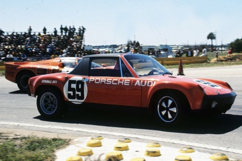 The 1971 Porsche 914/6 driven by Peter H. Gregg and Hurley Haywood IMSA GTU Championship Winning Car.