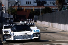 1987 again but here on a street course and the Marshall Pruett at the wheel of the Holbert team Porsche 962.