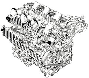 The Cosworth GA engine.