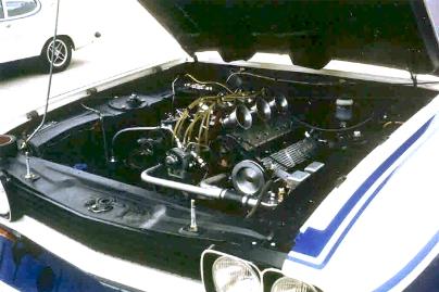 The Cosworth GA engine in situ.