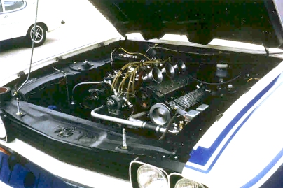 The Cosworth GA engine in situ.