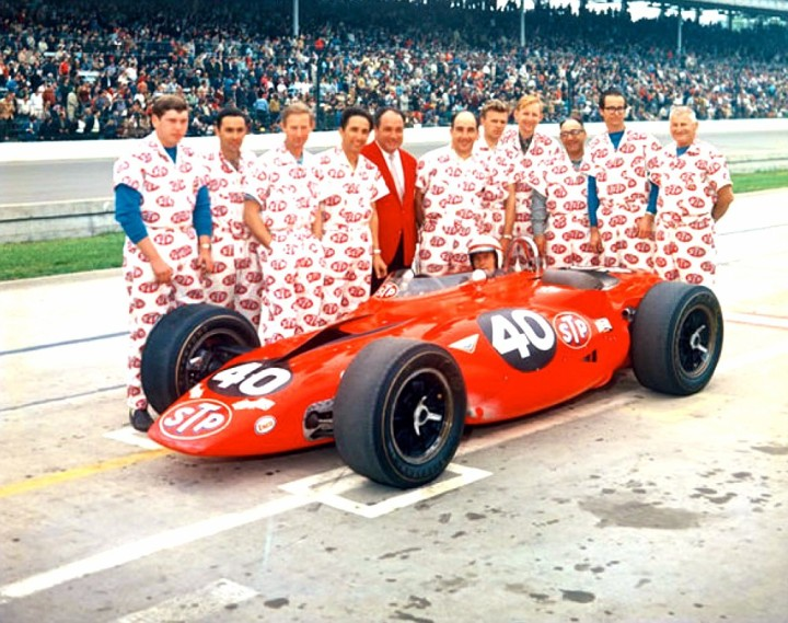 The STP Team before the 1967 Indy 500.