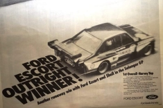1978 Advert about the Selangor GP win by the Group 5 Zakspeed Escort.