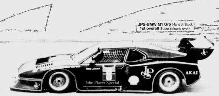 1984 and the Group 5 Schnitzer Turbo BMW M1 of H-J Stuck, winner, having lapped the whole field.