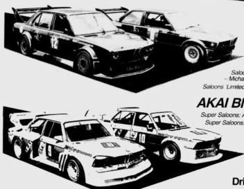 The 1985 AKAI and JPS team contenders.