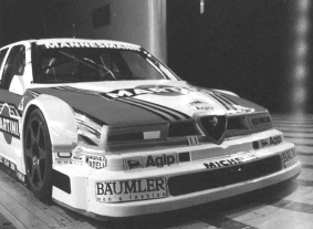 The 1995 Abarth SE062 DTM evolution at the Fiat Orbassano wind tunnel.