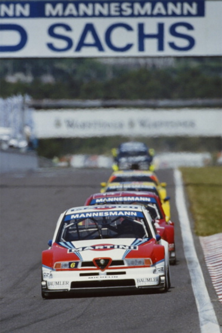 Alfa Corse and Nannini at speed during Round 3 at Estoril, Portugal.