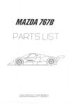 Mazda 767B Parts List.