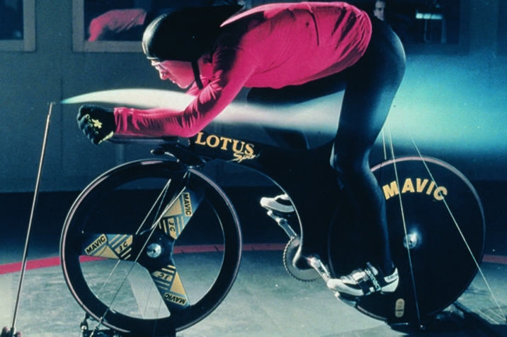 Boardman during wind tunnel testing at MIRA.
