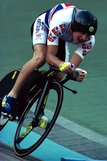 Boardman and the Lotus Type 108 on their way to Olympic gold.