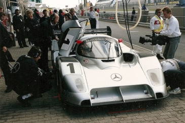 The C291 in the Nüburgring pits.