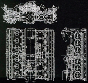 Mercedes M291 Flat-12 early plans.